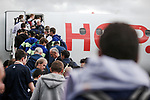 Boarding the flight to the final Stage 21 of the 2019 Tour de France running 128km from Rambouillet to Paris Champs-Elysees, France. 28th July 2019.<br /> Picture: ASO/Thomas Maheux   Cyclefile<br /> All photos usage must carry mandatory copyright credit (© Cyclefile   ASO/Thomas Maheux)