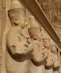 Statue details inside  of Temple of Hatshepsut in Luxor west Bank