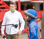 07162020:Luis Cardenas wins first race at Saratoga 2020 meet on Grit and Glory trained by Linda Rice<br /> Robert Simmons/Eclipse Sportswire