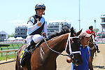 May 1 2015: Feathered with Javier Castellano wins the 30th running of the Grade III Edgewood for 3-year old fillies, going 1 1/16 mile on the turf at Churchill Downs.  Trainer Todd Pletcher. Owner Eclipse Thoroughbred PartnersSue Kawczynski/ESW/CSM