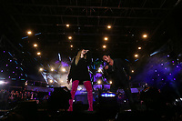 Marie Mai and Eric Lapointe perform at the St-Jean Baptist show on the Plains of Abraham in Quebec City during the Fete nationale du Quebec, Friday June 23, 2017.