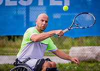 Amstelveen, Netherlands, 19 Augustus, 2020, National Tennis Center, NTC, NKR, National  Wheelchair Tennis Championships, Men's single: Berry Korst (NED)<br /> Photo: Henk Koster/tennisimages.com