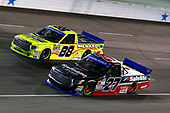 NASCAR Camping World Truck Series<br /> JAG Metals 350<br /> Texas Motor Speedway<br /> Fort Worth, TX USA<br /> Friday 3 November 2017<br /> Ben Rhodes, Safelite Auto Glass Toyota Tundra and Matt Crafton, Ideal Door / Menards Toyota Tundra<br /> World Copyright: Russell LaBounty<br /> LAT Images
