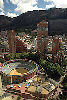 BOGOTA- COLOMBIA: Panorámica de La Plaza de Toros La Santamaria. Panoramic view of the La Santamaria bullring (Photo: VizzorImage / Luis Ramirez / Staff).