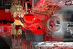 Antique Fire Engine, Balboa Island, CA.
