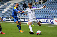 Ryan Barnett of Shrewsbury Town crosses the ball during AFC Wimbledon vs Shrewsbury Town, Sky Bet EFL League 1 Football at The Kiyan Prince Foundation Stadium on 17th October 2020