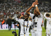 Pictured: (L-R) Nathan Dyer, Ashley Williams. Sunday 24 February 2013<br /> Re: Capital One Cup football final, Swansea v Bradford at the Wembley Stadium in London.