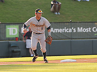Infielder Dante Bichette, Jr. (19) of the Charleston RiverDogs, a New York Yankees affiliate, in a game against the Greenville Drive on May 31, 2012, at Fluor Field at the West End in Greenville, South Carolina. Charleston won, 13-2. Bichette is the Yankees' No. 6 prospect, according to Baseball America and was a first-round draft pick in 2011. (Tom Priddy/Four Seam Images)