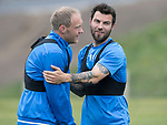 St Johnstone Training…12.05.17<br />Richie Foster and Steven Anderson pictured during training today ahead of tomorrow's game against Partick Thistle<br />Picture by Graeme Hart.<br />Copyright Perthshire Picture Agency<br />Tel: 01738 623350  Mobile: 07990 594431