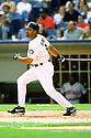 CHICAGO - CIRCA 2001:  Harold Baines #3 of the Chicago White Sox bats during an MLB game at Comiskey Park in Chicago, Illinois. Baines played for 22 season for 5 different teams, was a 6-time All-Star and was inducted to the Baseball Hall of Fame in 2019.(David Durochik / SportPics) --Harold Baines