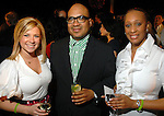 Carrie Johnson, Victor Vega and Virginia Sanders at the spring Simon Fashion Now event at The Galleria Thursday March 12, 2009. (Dave Rossman/For the Chronicle)
