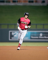 Tyler Stephenson rounds the bases after hitting a home run in the annual Arizona Fall League Fall Stars Game at Salt River Fields on October, 12, 2019 in Scottsdale, Arizona (Bill Mitchell)