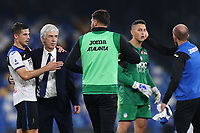 Gian Piero Gasperini coach of Atalanta celebrates at the end of the match<br /> Napoli 30-10-2019 Stadio San Paolo <br /> Football Serie A 2019/2020 <br /> SSC Napoli - Atalanta BC<br /> Photo Cesare Purini / Insidefoto