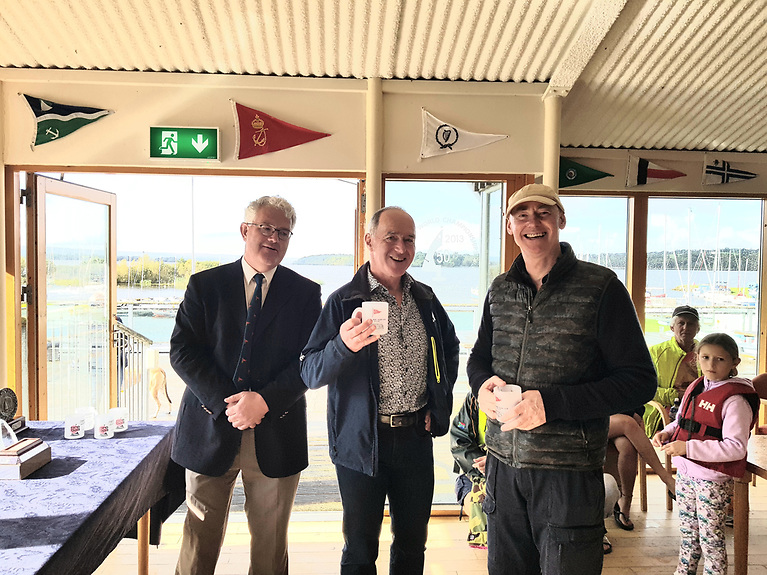 Third overall - Ed Butler Snr and Frank Miller with Commodore Joe Gilmartin