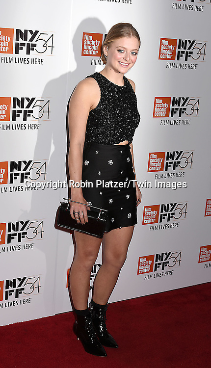 """actress Anna Baryshnikov attends the """"Manchester by the Sea"""" Screening at the New York Film Festival on October 1, 2016 at Alice Tylly Hall in Lincoln Center in New York, New York, USA.<br /> <br /> photo by Robin Platzer/Twin Images<br />  <br /> phone number 212-935-0770"""