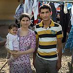 16 septiembre 2015. Melilla <br /> Mohammed, de 25 años, y Rania, de 19 años, son refugiados sirios que salieron hace dos años de Siria. Su hija, Lavint, nació en Marruecos. Ahora los tres permanecen en el Centro de Estancia Temporal de Inmigrantes (Ceti). La ONG Save the Children exige al Gobierno español que tome un papel activo en la crisis de refugiados y facilite el acceso de estas familias a través de la expedición de visados humanitarios en el consulado español de Nador. Save the Children ha comprobado además cómo muchas de estas familias se han visto forzadas a separarse porque, en el momento del cierre de la frontera, unos miembros se han quedado en un lado o en el otro. Para poder cruzar el control, las mafias se aprovechan de la desesperación de los sirios y les ofrecen pasaportes marroquíes al precio de 1.000 euros. Diversas familias han explicado a Save the Children cómo están endeudadas y han tenido que elegir quién pasa primero de sus miembros a Melilla, dejando a otros en Nador.  © Save the Children Handout/PEDRO ARMESTRE - No ventas -No Archivos - Uso editorial solamente - Uso libre solamente para 14 días después de liberación. Foto proporcionada por SAVE THE CHILDREN, uso solamente para ilustrar noticias o comentarios sobre los hechos o eventos representados en esta imagen.<br /> Save the Children Handout/ PEDRO ARMESTRE - No sales - No Archives - Editorial Use Only - Free use only for 14 days after release. Photo provided by SAVE THE CHILDREN, distributed handout photo to be used only to illustrate news reporting or commentary on the facts or events depicted in this image.