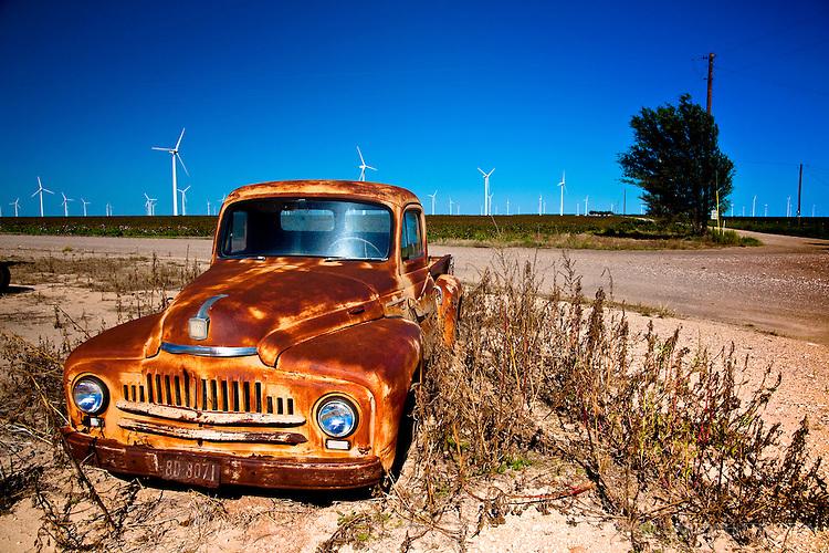 West Texas wind farm.