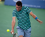 Bernard Tomic (AUS) defeats Alejandro Gonzalez (COL) 6-3, 6-2 at the Citi Open in Washington, DC on July 28, 2014.