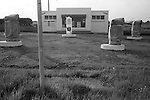 Petrol station closed down  Devon UK. 1970