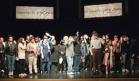 """The whole cast rehearsing the Grand Finale.  Special Olympics Surrey put on a show,   """"Beyond the Stars"""", at the Rose Theatre, Kingston upon Thames to raise money for the  SOGB team.  The Special Olympics are for athletes with learning disabilities."""