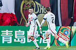 Sydney Wanderers Midfielder Lachlan Scott (L) celebrating his score during the AFC Champions League 2017 Group F match between FC Seoul (KOR) vs Western Sydney Wanderers (AUS) at the Seoul World Cup Stadium on 15 March 2017 in Seoul, South Korea. Photo by Chung Yan Man / Power Sport Images