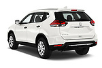 Car pictures of rear three quarter view of 2017 Nissan Rogue S 5 Door SUV Angular Rear