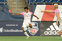 FOXBOROUGH, MA - SEPTEMBER 04: Jiro Barriga Toyama #77 Forward Madison FC during a game between Forward Madison FC and New England Revolution II at Gillette Stadium on September 04, 2020 in Foxborough, Massachusetts.