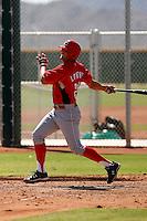 Derrick Lowery - Cincinnati Reds 2009 Instructional League. .Photo by:  Bill Mitchell/Four Seam Images..