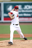 Great Lakes Loons starting pitcher Greg Wilborn during a game vs. the Dayton Dragons at Dow Diamond in Midland, Michigan August 19, 2010.   Great Lakes defeated Dayton 1-0.  Photo By Mike Janes/Four Seam Images