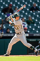 Baylor Bears outfielder Darryn Sheppard (4) at bat during Houston College Classic against the Hawaii Rainbow Warriors on March 6, 2015 at Minute Maid Park in Houston, Texas. Hawaii defeated Baylor 2-1. (Andrew Woolley/Four Seam Images)