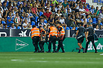 Real Sociedad's Diego Javier Llorente injured during La Liga match. August 24, 2018. (ALTERPHOTOS/A. Perez Meca)