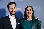 SAN DIEGO, CA - OCTOBER 18th: Tom Riley, Lizzy Caplan at the San Diego International Film Festival Night of the Stars at The Pendry hotel in San Diego, Ca on October 18, 2019. Credit: Tony Forte/MediaPunch