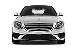 Car photography straight front view of a 2014 Mercedes Benz S-Class S63 AMG 4 Door Sedan Front View