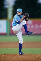 Burlington Royals relief pitcher Mark McCoy (41) in action against the Danville Braves at Burlington Athletic Park on August 13, 2015 in Burlington, North Carolina.  The Braves defeated the Royals 6-3. (Brian Westerholt/Four Seam Images)