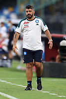 Gennaro Gattuso coach of SSC Napoli<br /> during the friendly football match between SSC Napoli and Pescara Calcio 1936 at stadio San Paolo in Napoli, Italy, September 11, 2020. <br /> Photo Cesare Purini / Insidefoto