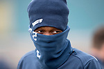 St Johnstone Training…30.03.18<br />Matty Willock weel wrapped up during training this morning at McDiarmid Park ahed of tomorrows game at Aberdeen<br />Picture by Graeme Hart.<br />Copyright Perthshire Picture Agency<br />Tel: 01738 623350  Mobile: 07990 594431