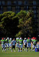 Sept. 16, 2009; Casa Grande, AZ, USA; California Redwoods players during training camp at the Casa Grande Training Facility & Performance Institute. Mandatory Credit: Mark J. Rebilas-