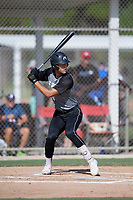 Juan Correa (44) during the WWBA World Championship at JetBlue Park on October 10, 2020 in Fort Myers, Florida.  Juan Correa, a resident of Weston, Florida who attends West Broward High School, is committed to Stetson.  (Mike Janes/Four Seam Images)