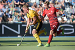 GER - Mannheim, Germany, May 27: During the men semi-final match between Rot-Weiss Koeln and Harvestehuder THC at the Final4 tournament May 27, 2017 at Am Neckarkanal in Mannheim, Germany. (Photo by Dirk Markgraf / www.265-images.com) *** Local caption *** Michael Koerper #9 of Harvestehuder THC