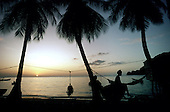 Sunset in the southern town of Soufriere