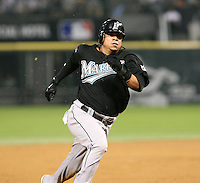 Alfredo Amezaga of the Florida Marlins vs. the Chicago White Sox: June 19th, 2007 at U.S. Cellular Field in Chicago, IL.  Photo by Mike Janes/Four Seam Images