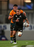 NZ's Aaron Smith in action during the Bledisloe Cup rugby match between the New Zealand All Blacks and Australia Wallabies at Eden Park in Auckland, New Zealand on Saturday, 14 August 2021. Photo: Simon Watts / lintottphoto.co.nz / bwmedia.co.nz