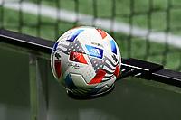 ATLANTA, GA - APRIL 24: The 2021 MLS match ball during a game between Chicago Fire FC and Atlanta United FC at Mercedes-Benz Stadium on April 24, 2021 in Atlanta, Georgia.