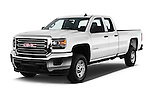 2018 GMC Sierra-2500HD 2WD-Double-Cab-Long-Box 4 Door Pick-up Angular Front stock photos of front three quarter view