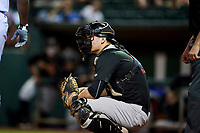 Nate Nolan (18) of the Great Falls Voyagers during the game against the Ogden Raptors at Lindquist Field on September 14, 2017 in Ogden, Utah. The Raptors defeated the Voyagers 7-4 in Game One of the Pioneer League Championship. (Stephen Smith/Four Seam Images)