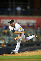 Akron RubberDucks relief pitcher Cole Sulser (35) during a game against the Richmond Flying Squirrels on July 26, 2016 at Canal Park in Akron, Ohio .  Richmond defeated Akron 10-4.  (Mike Janes/Four Seam Images)