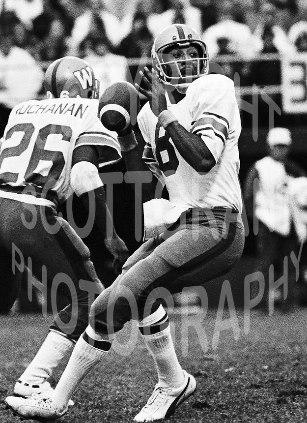Chuck Ealey Winnipeg Blue Bombers quarterback 1974. Photo Scott Grant