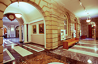 Interior of the Judiciary History Center, located near Iolani Palace in Honolulu and known for its beautiful architecture