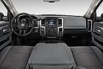 Stock photo of straight dashboard view of 2017 Ram 3500 Big Horn 4 Door Pick Up