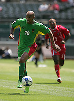 Aurelien Capoue dribbles the ball. Guadeloupe defeated Panama 2-1 during the First Round of the 2009 CONCACAF Gold Cup at Oakland Coliseum in Oakland, California on July 4, 2009.